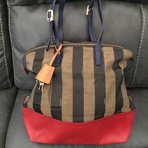 Fendi Pequin Stripe Shoulder Bag